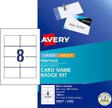 How To Print Avery Name Badges Card Name Badges Kit 959077 Avery Australia