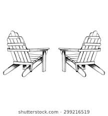 adirondack chairs clipart. Interesting Adirondack Adirondack Chairs Hand Sketch In Chairs Clipart Shutterstock