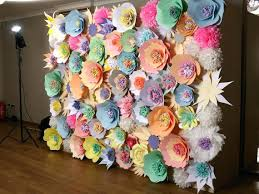 wall flower decoration ideas remarkable ideas paper flower wall decor wedding backdrop umbra wall flowers design