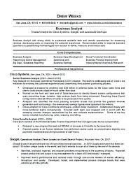 Revenue Management Analyst Resume Senior Business Analyst Resume