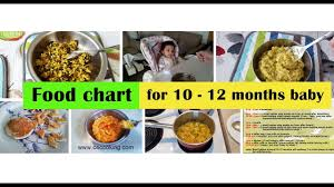 10 Month Baby Food Chart 10 12 Months Baby Food Recipes Food Chart For 10 12 Months Baby Tips Recipes Babyfood