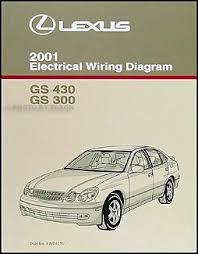2001 lexus gs 300 gs 430 wiring diagram manual original