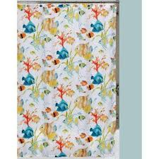 tropical themed shower curtain set