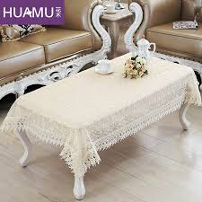 past lace flowers embroidered high rectangular coffee table cloth buu style coffee table side a few