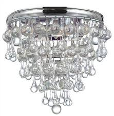 crystorama calypso 3 light chrome flush mount