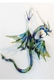 glass wall dragon large traditional