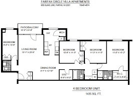 4 Bedroom Apartments In Maryland Plans Custom Decorating Design