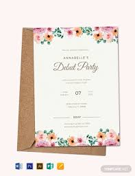 Free Formal Debut Invitation Template Word Psd