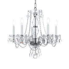 5 light crystal chandelier ivana 5 light chrome luxury crystal chandelier
