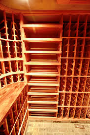 below grade redwood cellar in dana point with brick flooring 1850 bottle capacity