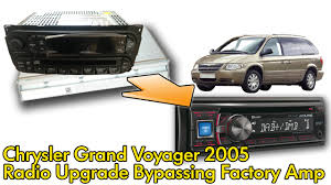 2005 chrysler pacifica factory amp wiring diagram 2005 chrysler voyager 2005 factory radio and amplifier bypass on 2005 chrysler pacifica factory amp wiring
