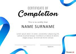 how to make a certificate of completion 40 fantastic certificate of completion templates word powerpoint