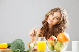 Natural vegetarian female teen health nutrition