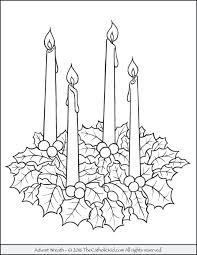 Wreath Coloring Pages Luxury Printable Advent Coloring Pages For