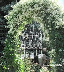 cottage mason jar chandelier. Shabby Chic Cottage Garden Mason Jar Chandelier | By TreasureAgain