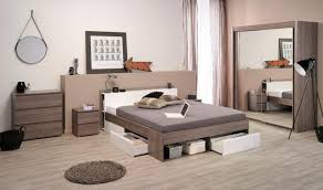 ... Vesta, Modern Storage Bed With A Headboard And Storage Drawers In Silver  Walnut And White ...