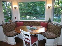 Round Dining Table With Bench Seating Kitchen Tables With Bench Seating Three Hard Wood Family For Best
