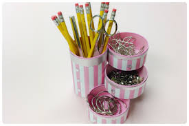 DIY crafts:How to recycle tin cans to make a pencil holder or desk  organizer - YouTube