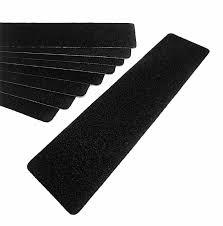 black stair safety non slip treads 6 x 24
