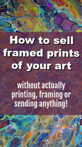 how to framed prints of your art in your without actually printing