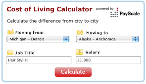 Ready To Move Cost Of Living Comparison