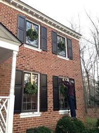 outdoor holiday decorating the easy way to hang window wreaths young house love