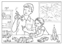 Small Picture Fathers Day Colouring Pages