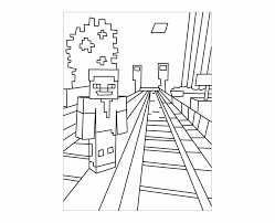 Banner Library Printable Minecraft Coloring Pages Kids