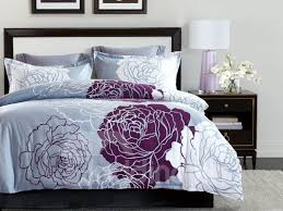 55 white and red flowers design printing 4 piece polyester bedding sets duvet cover