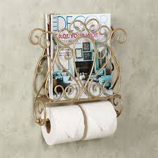 Toilet Paper Holder With Magazine Rack Gianna Wall Mount Magazine Rack and Toilet Paper Holder 86
