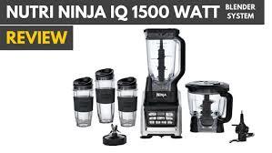 ninja professional blender 1500 watts. Unique Blender Nutri Ninja IQ 1500 Watt System Review In Professional Blender Watts