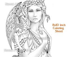 Hard Fairy Coloring Pages For Adults Color Bros