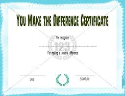 Making A Certificate You Make The Difference Certificate Template Free Premium