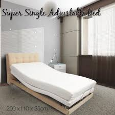 single bed size design. ALEGGIO \u2013 Lifestyle Bed With Bluetooth Handset Super Single Size Without Headboard Design D