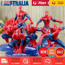7x Spiderman Action Figures Toy Cake Topper Display Figurine Set
