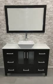 48 raised bowl bathroom vanity