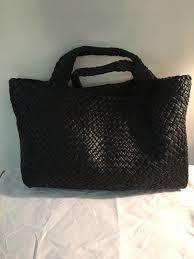 falor woven black leather tote from falor
