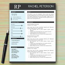 One Page Resume Format Doc Elegant One Page Resume Template Modern Design Models