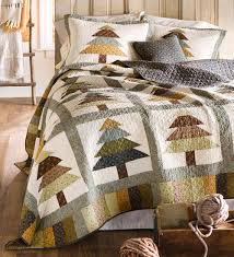 Evergreen Forest Quilt Set | Evergreen trees adorn this rustic ... & Full/Queen Evergreen Forest Quilt Set Collection Accessories from Plow &  Hearth on Catalog Spree Adamdwight.com