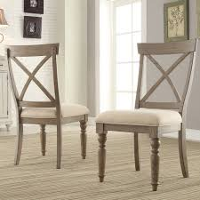 aberdeen wood x back upholstered side chair in weathered driftwood