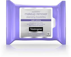 neutrogena makeup remover cleansing towelettes night calming 25 ea pack of 5 0