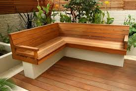 Small Picture Depiction of Outdoor Corner Bench Ideas Which Are Perfect for