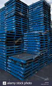 Chep Pallet stack - Stock Image