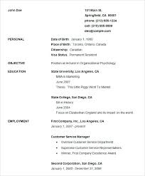 Basic Resume Template Amazing Easy Cv Template Free Miyamu