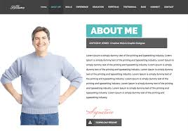 15 Best Html Resume Templates For Awesome Personal Sites Example Of