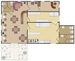 Cafe Floor Plans  Professional Building DrawingCafeteria Floor Plan