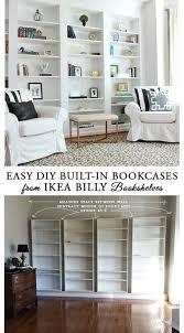 diy built in bookshelves. How To Easily DIY Builtin Bookcases From IKEA Billy Book Shelves And Easy Hack You Can Do In Weekend Throughout Diy Built Bookshelves