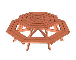 wooden round picnic tables plan