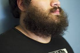 how to straighten your curly beard 5