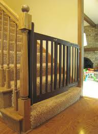 Gate For Stairs Metal Baby Gate For Stairs Modern Style Home Design Ideas